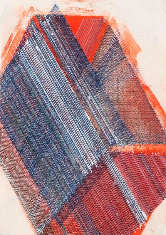 S/ Título | 2015 | Tinta da china e verniz sobre gravura | 47 x 34 cm