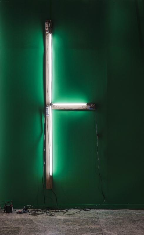 Daylight sobre verde é uma paisagem |2014 | Instalação - Escultura de parede | 3,5 x 2 m