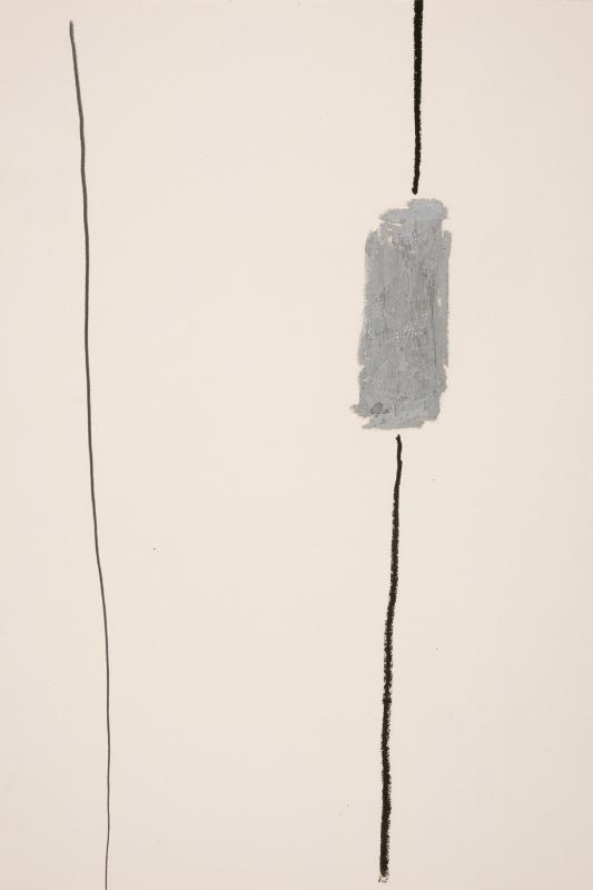 S/ Título | 1990 | Bastão a óleo e colagem sobre papel | 46 x 31 cm