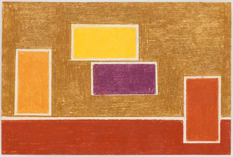 S/ título | 2012 | lápis de cor e lápis metalizado | 16 x 24 cm