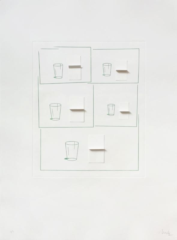 Sem título | 2015 | Gravura em metal e colagem | Ed. 40 | 105 x 75 cm - Coedição Mul.ti.plo + Polígrafa Obra Gráfica