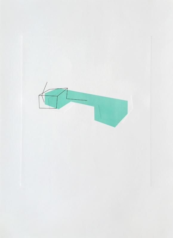 Sem título | 2015 | Litografia e relevo | Ed. 40 | 105 x 75 cm - Coedição Mul.ti.plo + Polígrafa Obra Gráfica