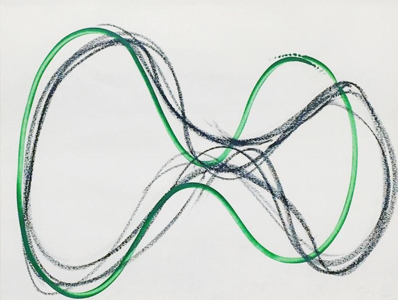 S/ Título da série Voluminosos | 2007 | bastão a óleo sobre papel | 49 x 64 cm