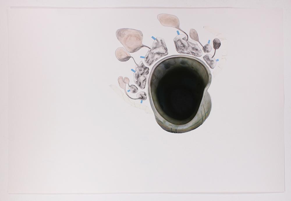 Mariana Manhães   Toda palavra tem uma gruta dentro de si #5   2017   Técnica mista   66 x 96 cm