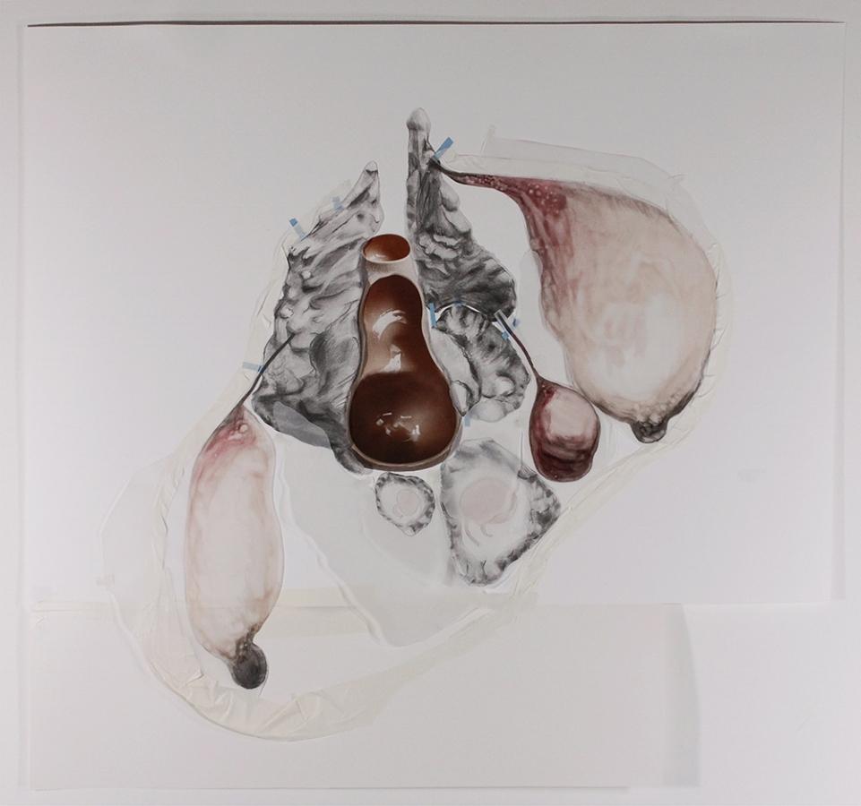 Mariana Manhães | Toda palavra tem uma gruta dentro de si #2 | 2016 | Técnica mista | 79 x 89 cm
