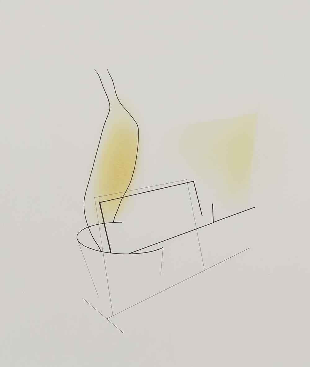 Sem título | 2013 | desenho | nanquim e pastel sobre papel | 35 x 30,5 cm (sem moldura) | 50,5 x 45 x 5 cm (com moldura)