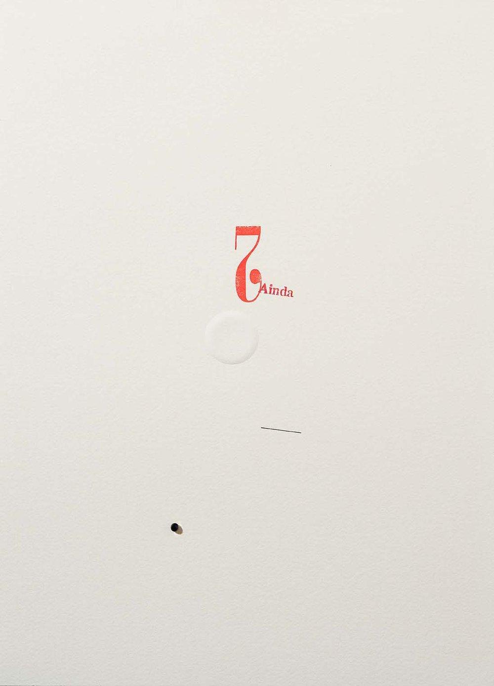 Sem título | 2014 | desenho | nanquim, carimbo, relevo e resina sobre papel | 36 x 25,5 x 0,6 cm (sem moldura) | 50,5 x 40,5 x 5,5 cm (com moldura)