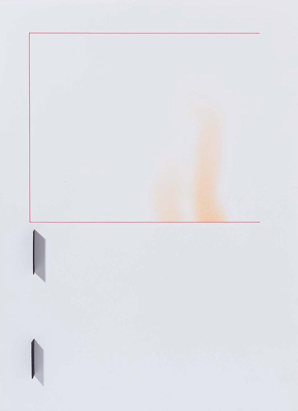 Copy of Sem título   2015   desenho   nanquim, pastel e colagem sobre papel  42 x 29,5 x 2 cm (sem moldura)  56,5 x 44,5 x 5,5 cm (com moldura)