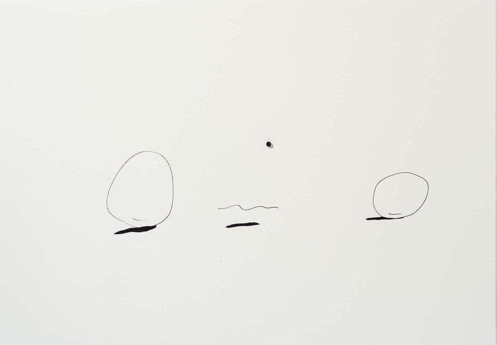 Sem título | 2015 | desenho | nanquim e resina sobre papel| 29,5 x 42 x 0,6 cm (sem moldura) | 45 x 57 x 5,5 cm (com moldura)