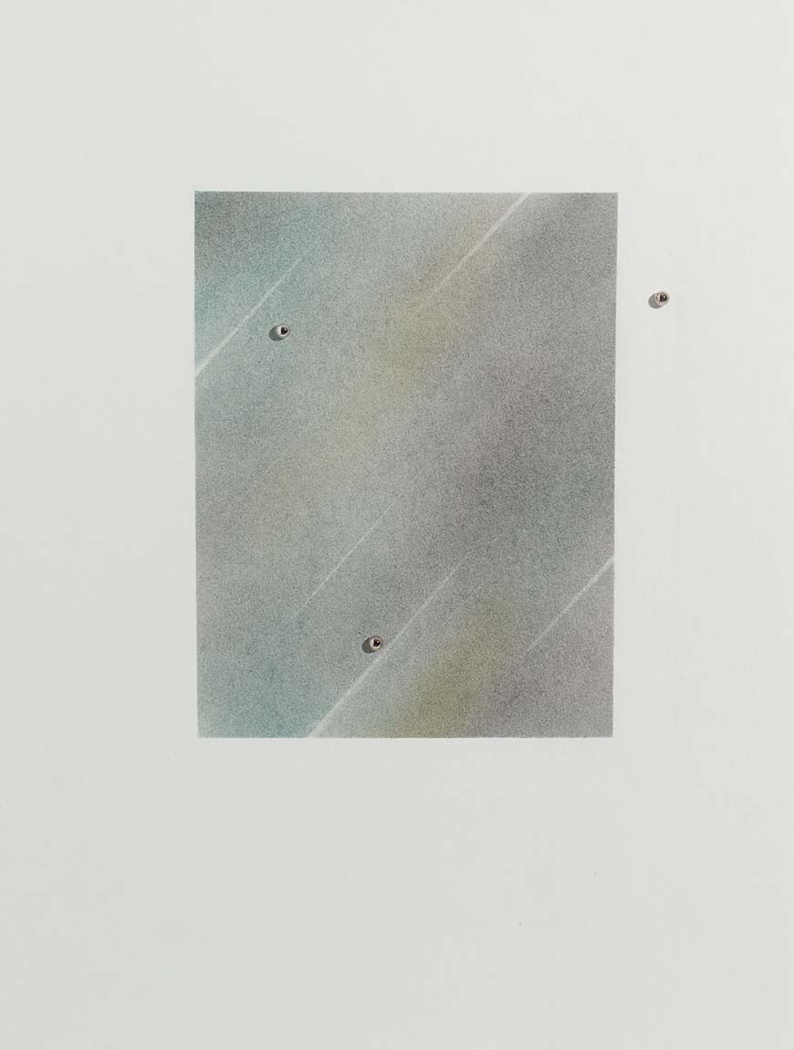 Sem título | 2015 | desenho | pastel e resina sobre cartão| 31 x 23,5 x 0,4 cm (sem moldura) | 46,5 x 38,5 x 5,5 cm (com moldura)