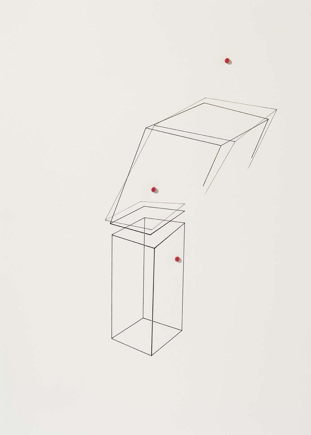 Sem título | 2015 | desenho | nanquim e resina sobre papel| 40 x 30 x 0,7 cm (sem moldura) | 55 x 45 x 5 cm (com moldura)