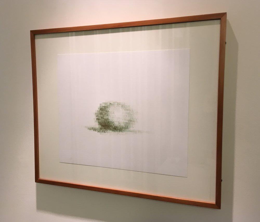 Pedra | 1998 | desenho | tinta tipográfica/carimbo sobre papel | 29 x 35 (sem moldura)| 43 x 51 (com moldura)