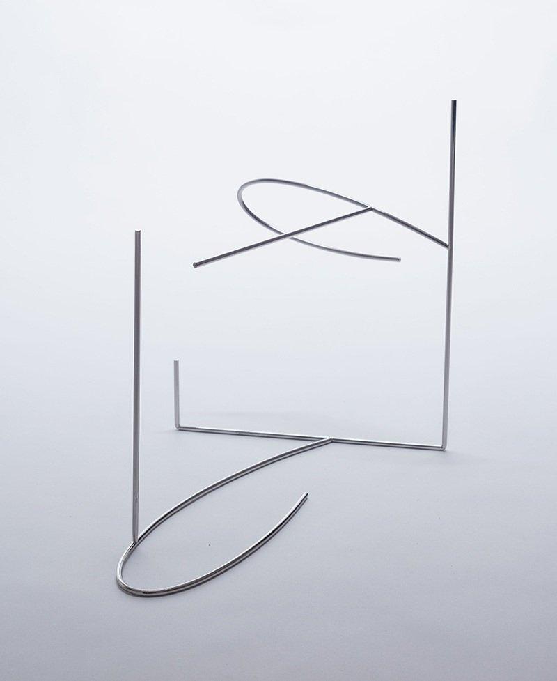 Copy of Meia-sombra   2017   múltiplo   aço inoxidável polido  32 x 38 x 22 cm  Edição 20
