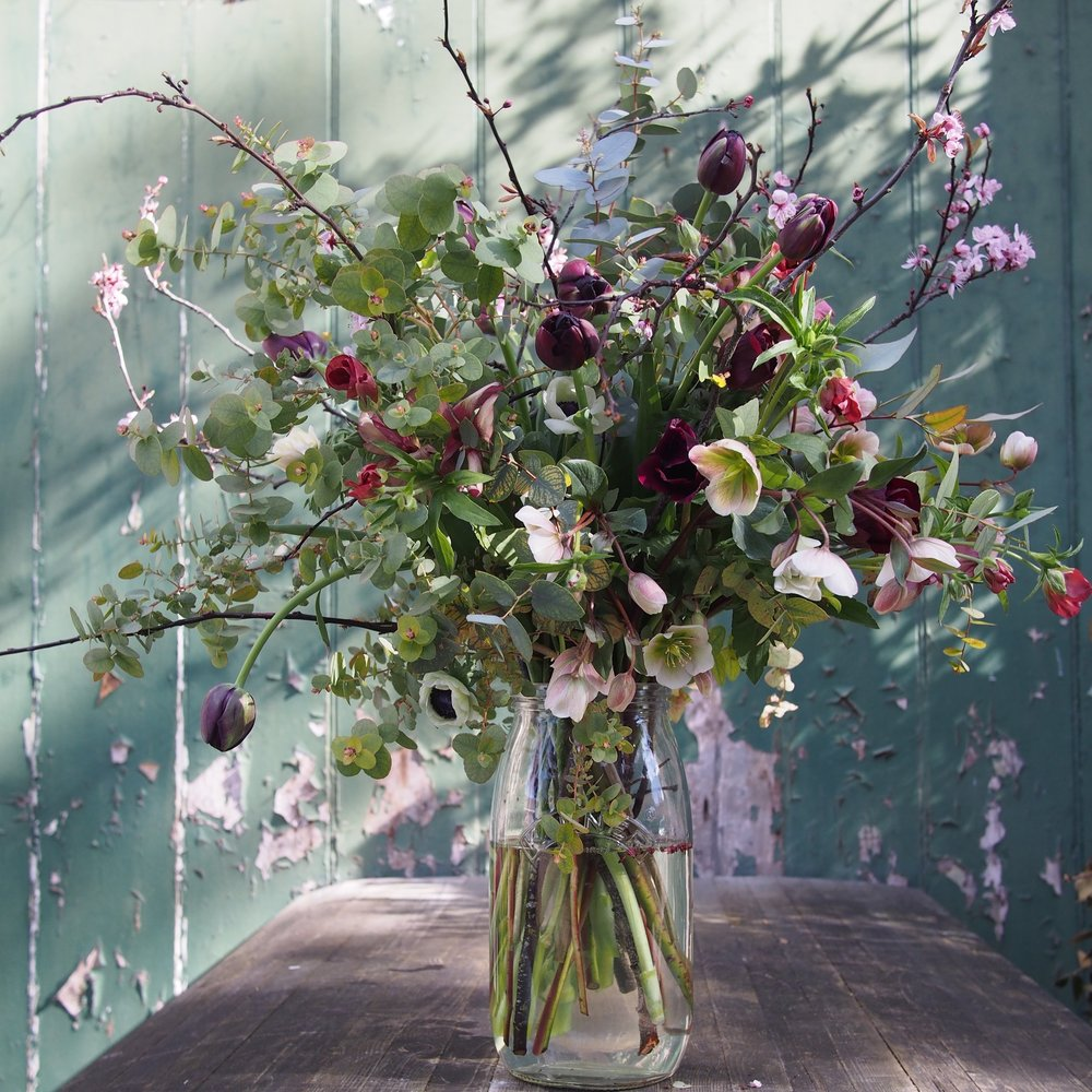 Kilner Jar of Seasonal Flowers