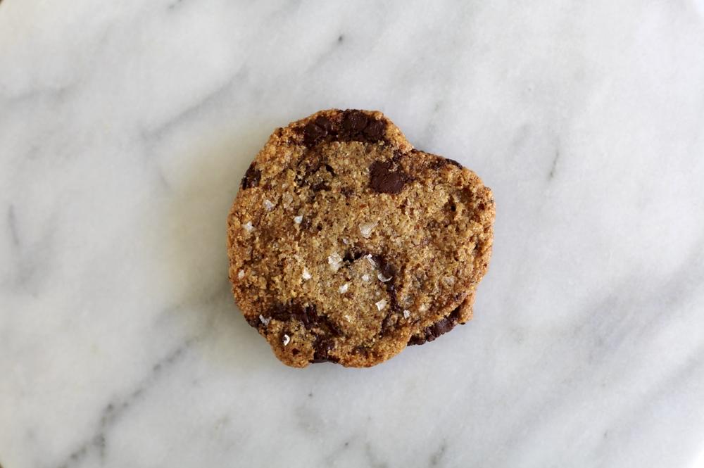 salted bittersweet chocolate chip cookie Vegan
