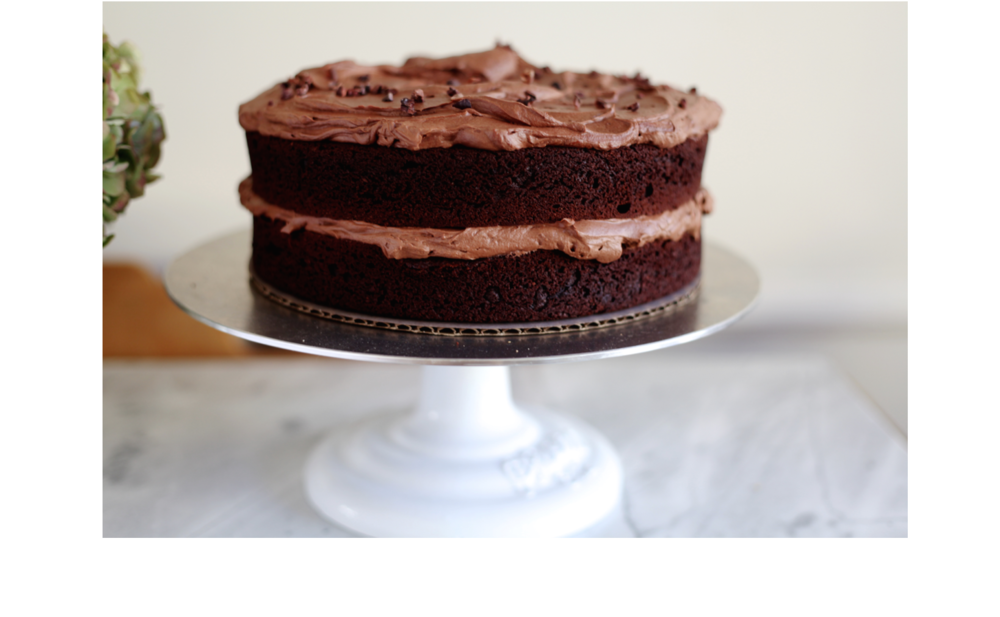 double chocolate cake gluten free, paleo friendly, vegan available