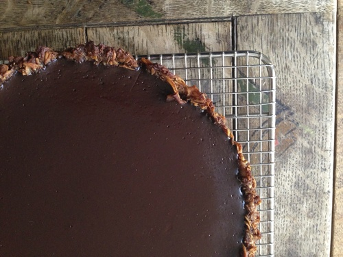 chocolate macaroon tart gluten free, dairy free, paleo friendly