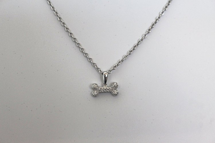 Diamond dog bone pendant the diamondaire diamond dog bone pendant aloadofball Gallery