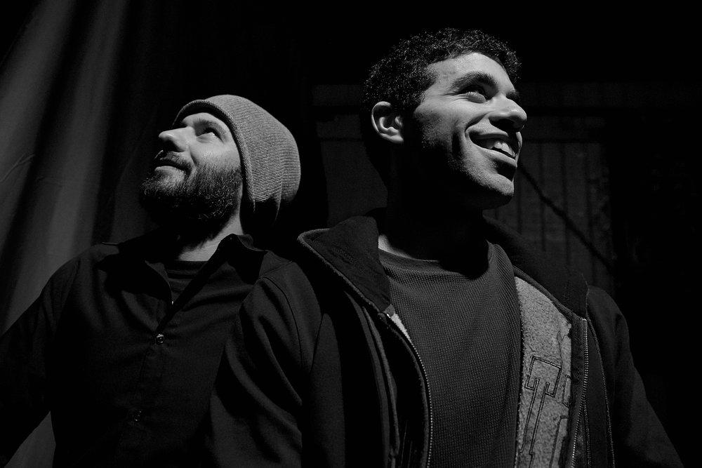 Left to right: bass player  Juan Garcia-Bossio ,  Jake Bernard