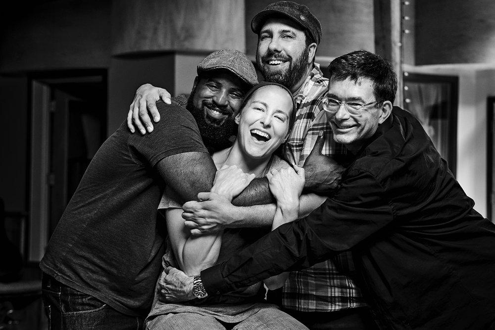 Chris Peace, Adam Monaco, Maggie Pope, & John Fisher of Winding Way Records.