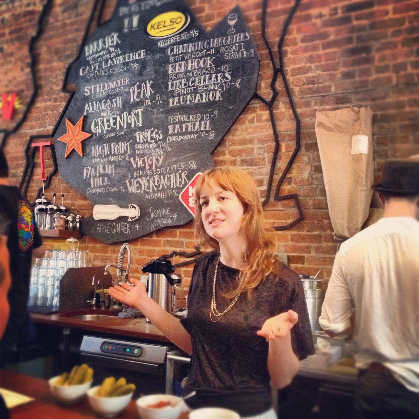 Cobble Hill's 61 Local manifests its philosophy with a map of local purveyors.