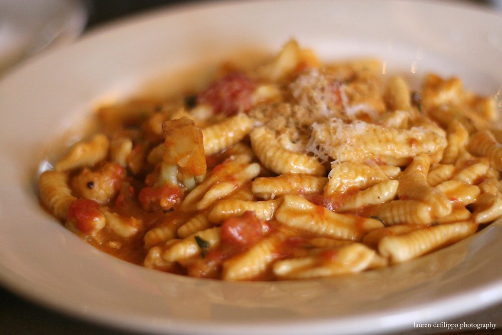 Cavatelli with cauliflower ragu.