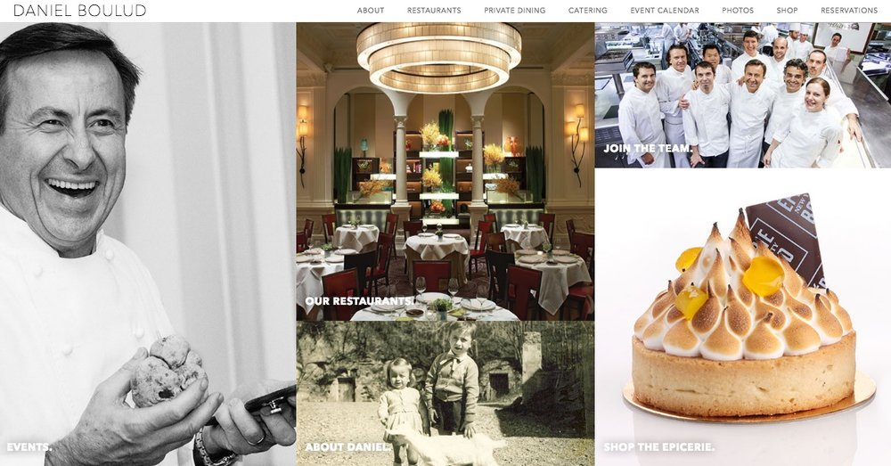 CHEF DANIEL BOULUD // WEBSITE COPY