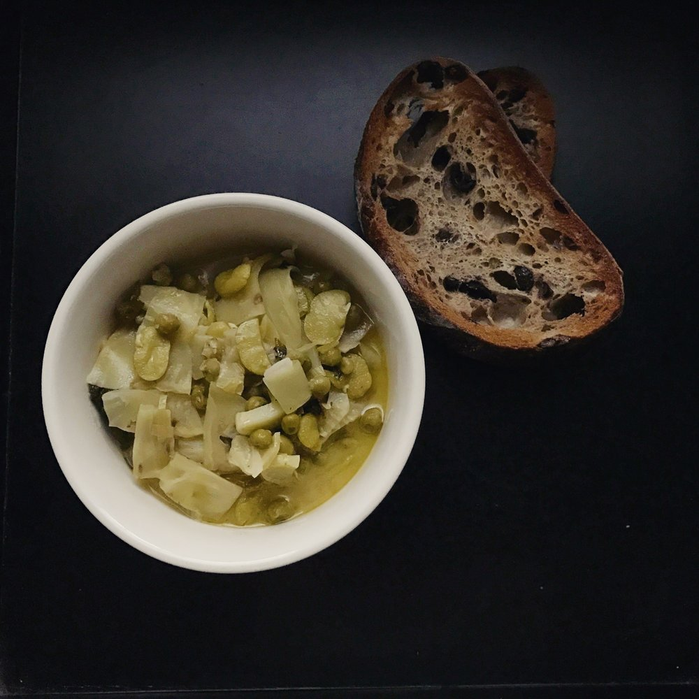 vignarola with celtuce fava and pea.jpg