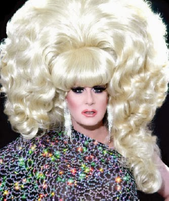 Try getting that hair into a normal taxi. Lady Bunny, from  here .