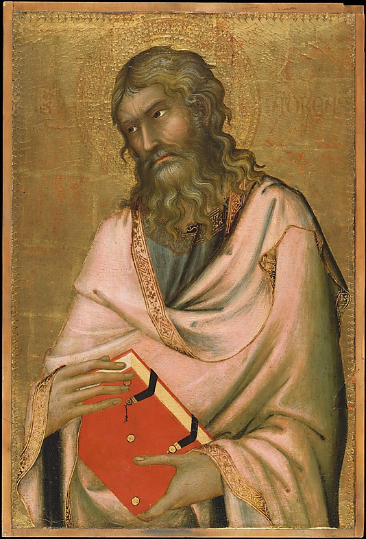 St. Andrew      , c. 1326. Simone Martini.  In the Metropolitan Museum of Art, New York .