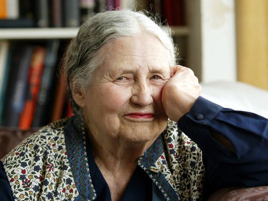 Doris Lessing in 2006. Photo: Martin Cleaver, AP. From  here .