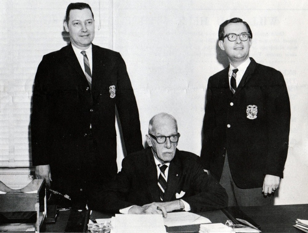 L to R: Howard Alter Jr., George W. Chapman and Walt Davis