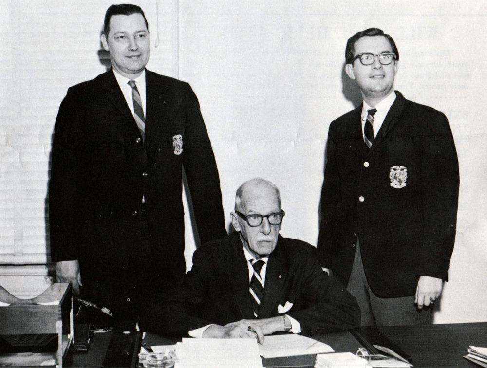 L to R: Howard Alter Jr., George W. Chapman and Walt Davis