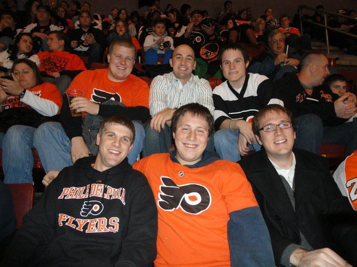 Flyers Game for THON - Dec. 20, 2010 Top: Dan Weinman, Casey Leman, Jasen Marshall Bottom: David Hartwich, Jeremy Railing, John McCrindle