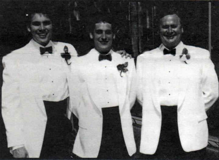 L to R: Dave Allan (Beta Zeta '86), Greg Allan '89 and Norm Allan '64