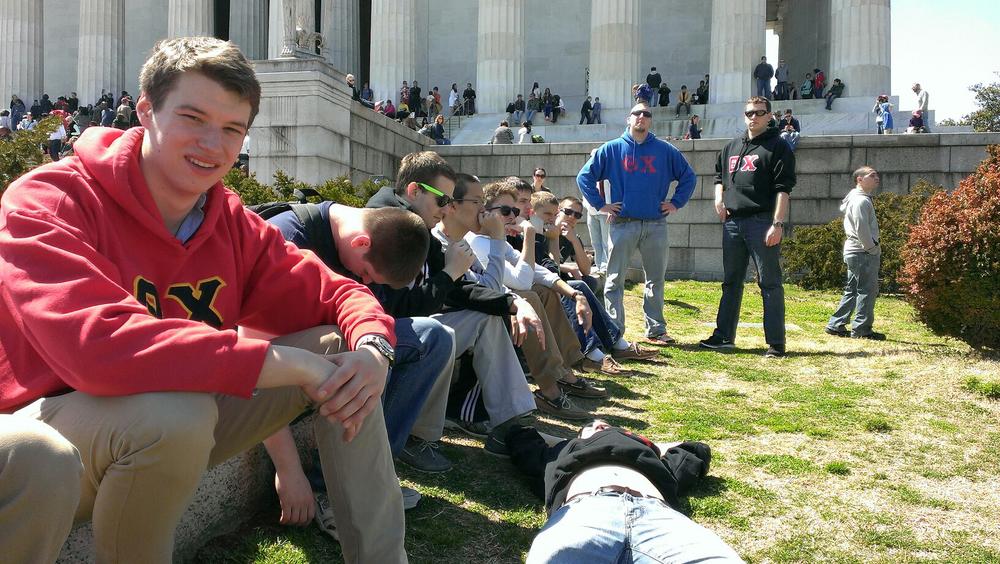 Jeb Biernat, Ian Maxwell, Bobby Aichele, Mark Moseley, Sam Kulp, Jerry Crompton and Kyle Sussman. DC Trip - Spring 2013