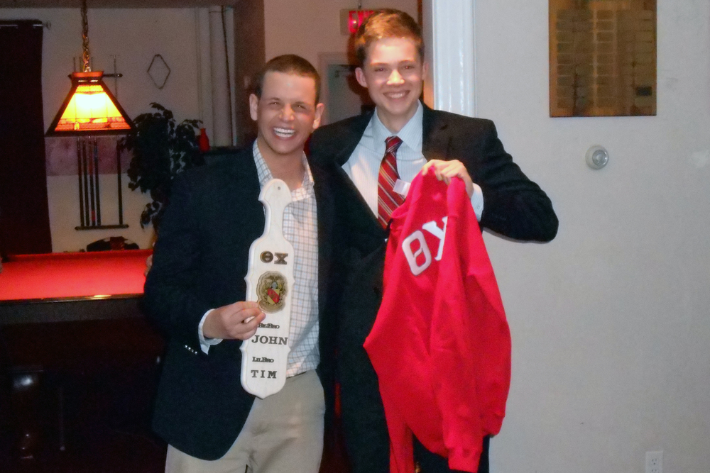 Spring 2013 Initiation L to R: John Boston and Tim Kundro