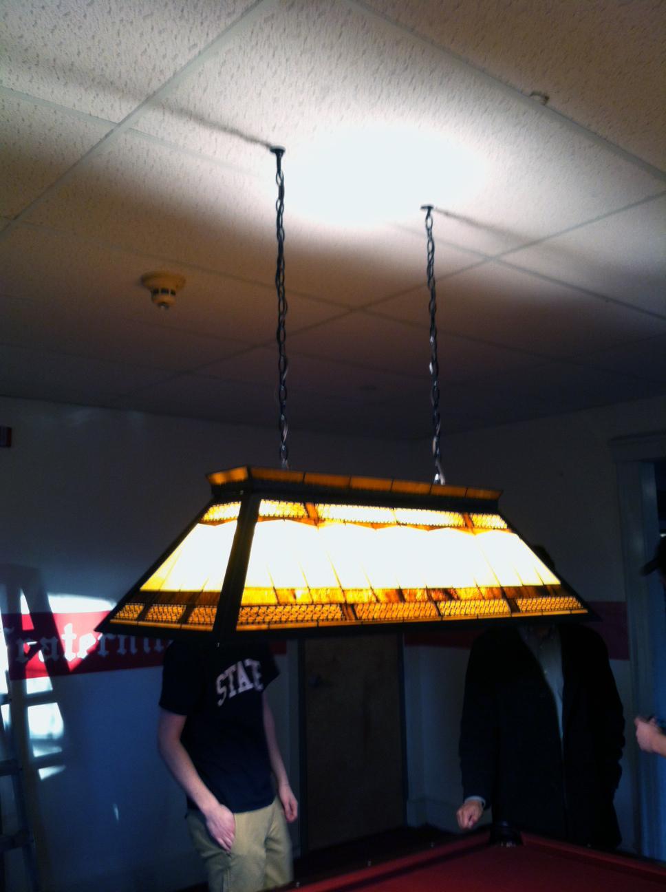 2013 Alumni Work Weekend - Pool Room Project New Pool Light