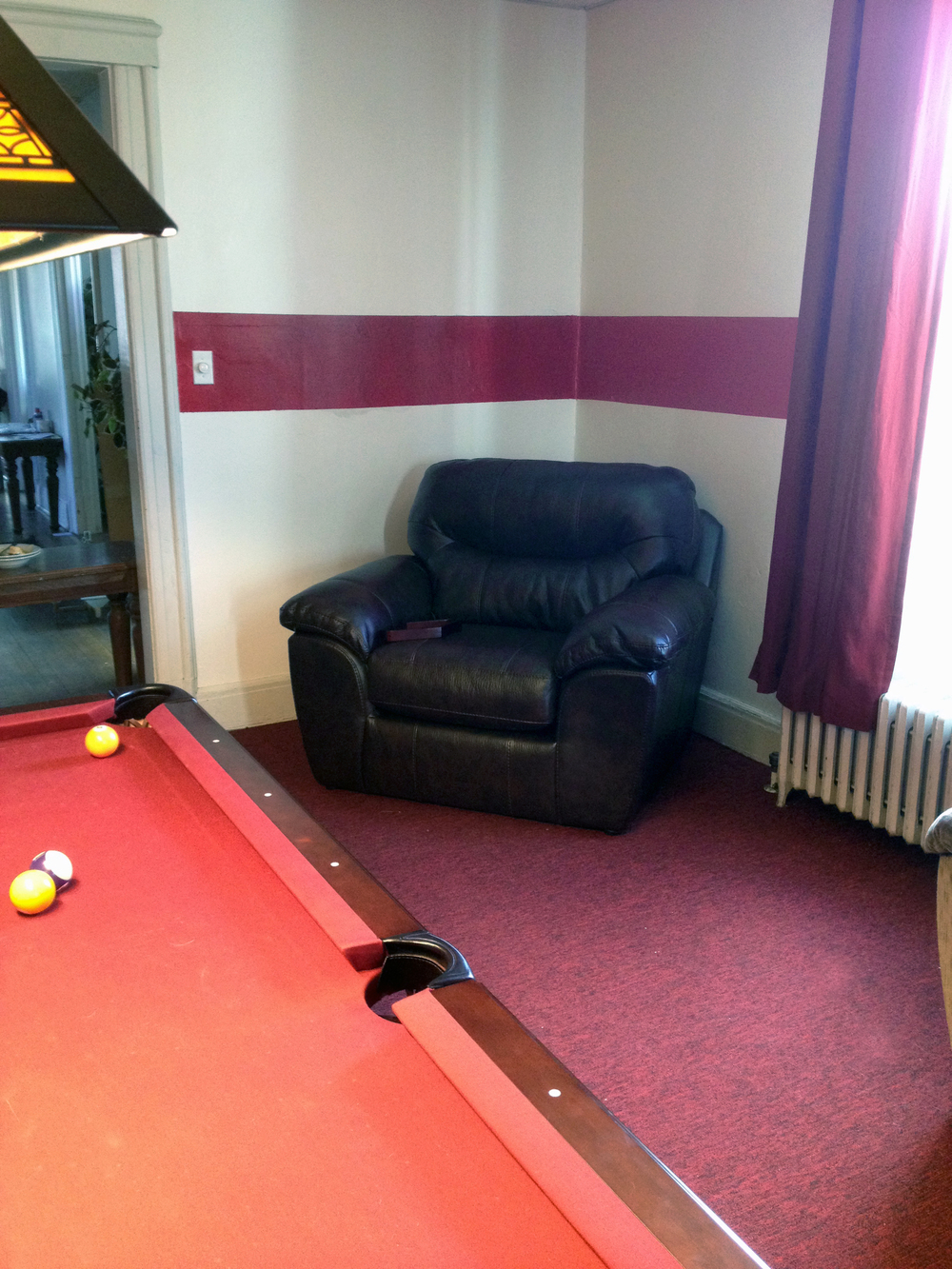 2013 Alumni Work Weekend - Pool Room Project New Chair