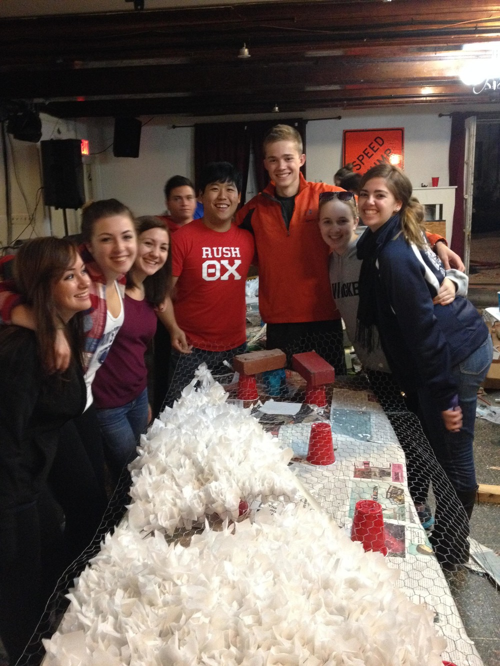Homecoming 2013 preparations begin with float building - Danny Lim and TK - Oct. 8, 2013