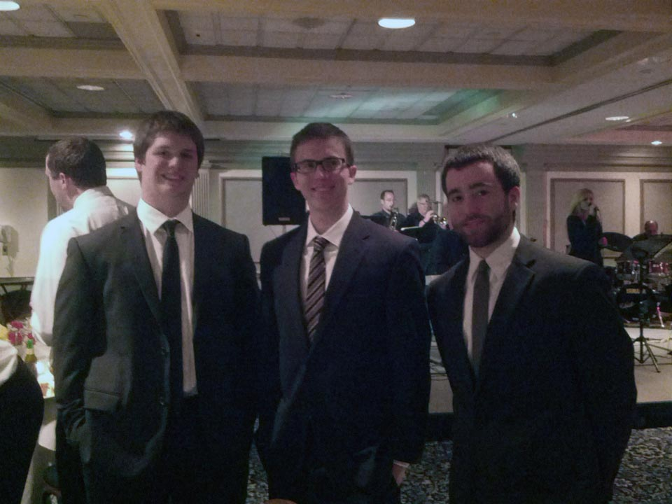 Ian Maxwell, Mark Moseley and Peter Blasco - Theta Chi Gala - Oct. 21, 2013