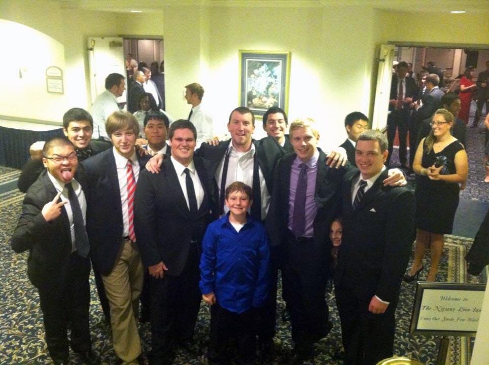 Andrew Sie, Zach Meharey, Danny Lim, Jerry Crompton, AJ Bobby, Alejandro Buxo, Kevin Trippel and Kyle Sussman - Theta Chi Gala - Oct. 21, 2013