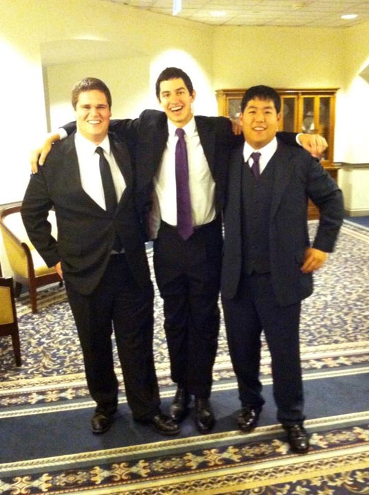Tyler Wood, Alejandro Buxó and Danny Lim - Theta Chi Gala - Oct. 21, 2013