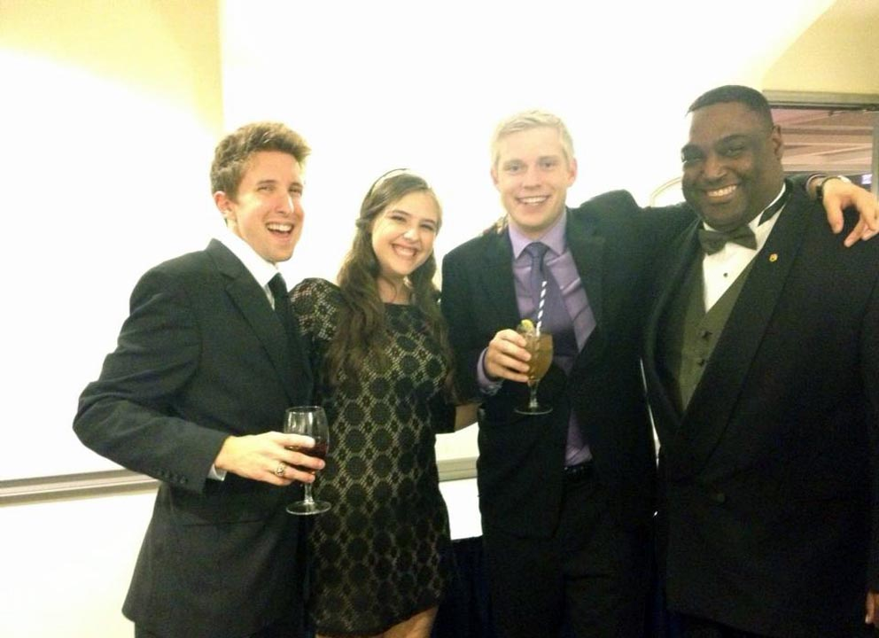 Zach Dugan, Becca Shapiro, Kevin Trippel and Jim Smith - Theta Chi Gala - Oct. 21, 2013