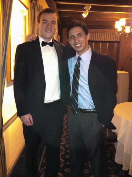Mark Joyce (L) and Max Salons - Theta Chi Gala - Oct. 21, 2013
