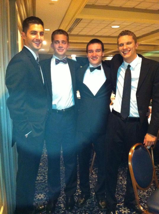 Rob McHugh, Tim Kundro, Mark Joyce and Brandon Nicklas - Theta Chi Gala - Oct. 21, 2013