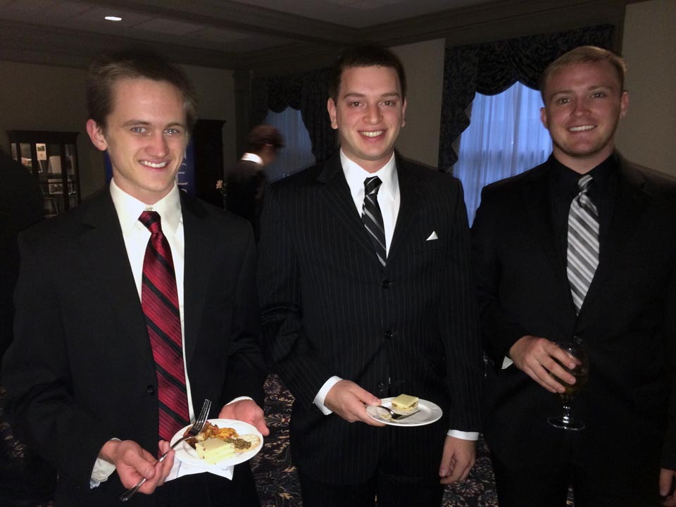 L to R: Sean McCrea, Kyle Sussman and Tyler Doppelheuer - Theta Chi Gala - Oct. 21, 2013