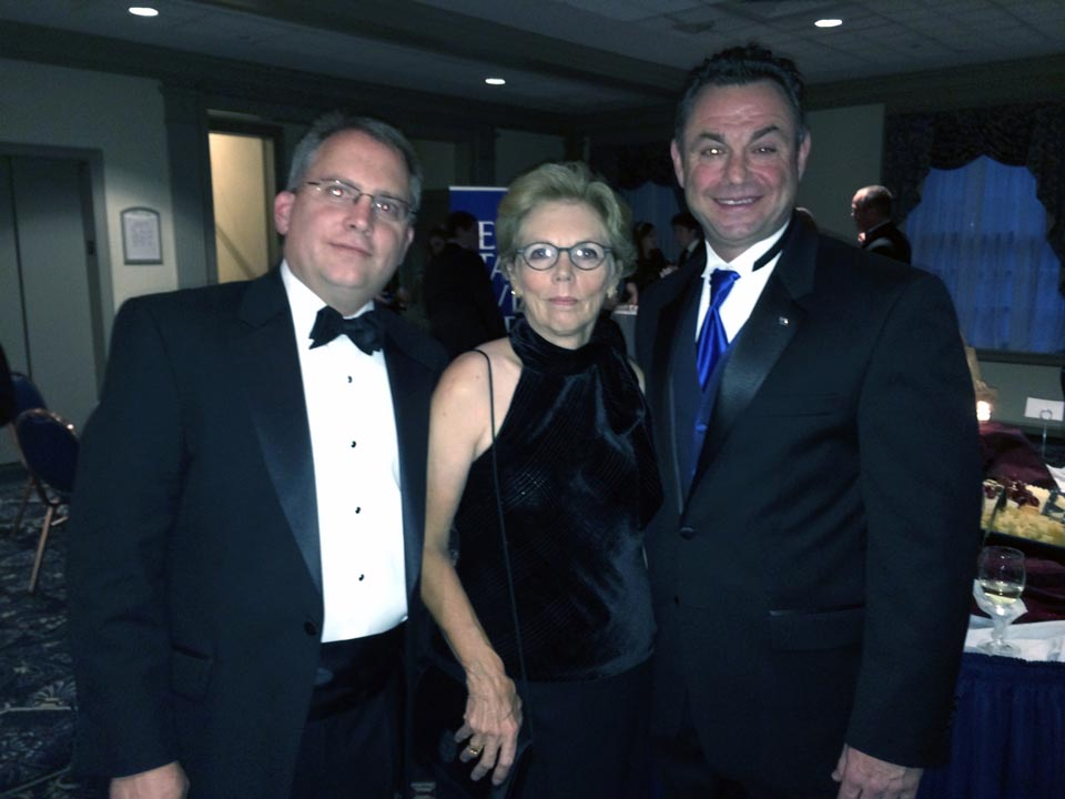 Chris Bartnik, Jean Bartnik and Anthony Lubrano - Theta Chi Gala - Oct. 21, 2013