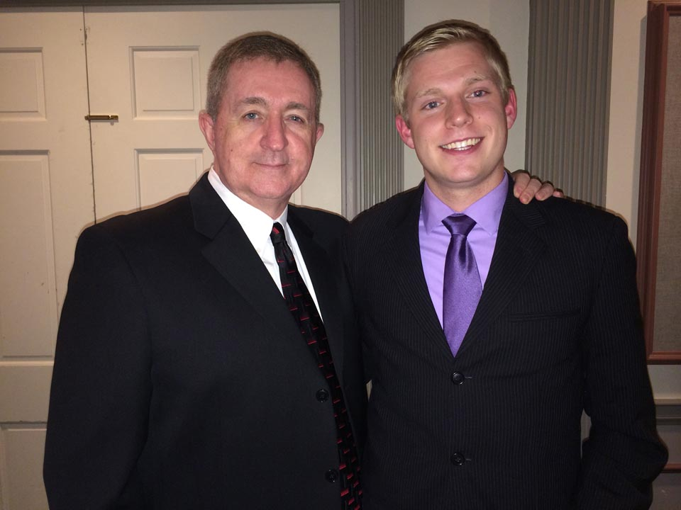 Penn State's Dr. Roy Baker (L) and Kevin Trippel - Theta Chi Gala - Oct. 21, 2013