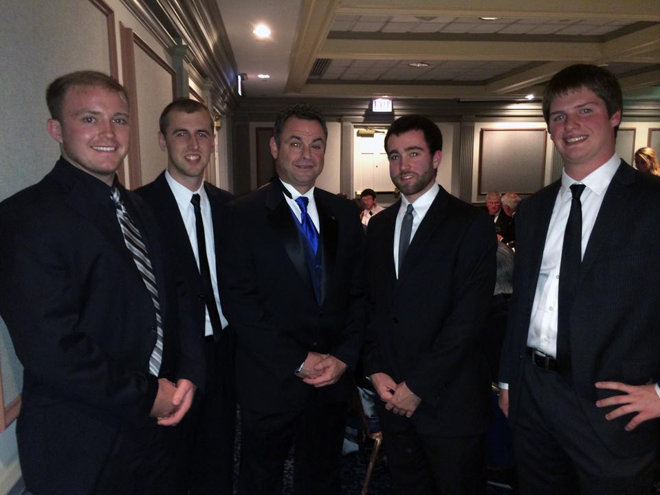 L to R: Tyler Doppelheuer, Dave Stoltzfus, Anthony Lubrano, Peter Blasco and Ian Maxwell - Theta Chi Gala - Oct. 21, 2013